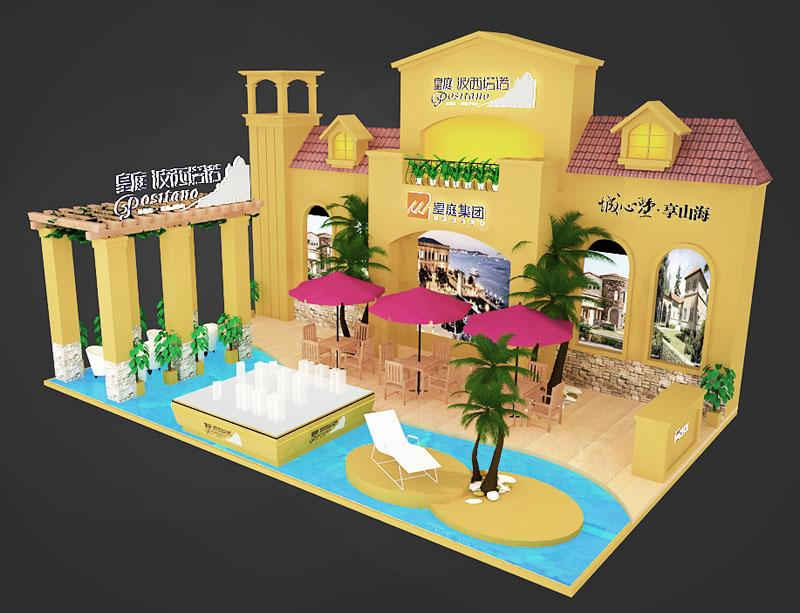 房产展 现代欧式展台设计模型